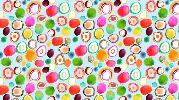 Spring Theory 1097-AQUA Water Dots