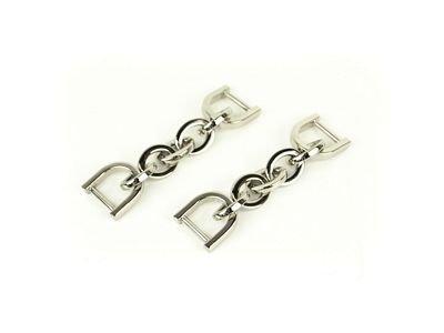 Chain Strap Connectors - 2pk Silver