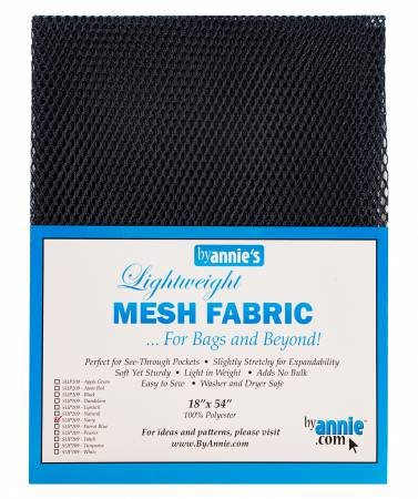 Lightweight Mesh Fabric 18in x 54in Navy