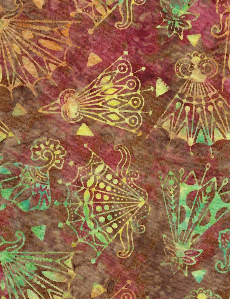 Tonga Posey Batik B6642-PISTACHIO