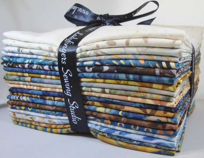 Tonga Stonewash Batiks Fat Quarter Bundle