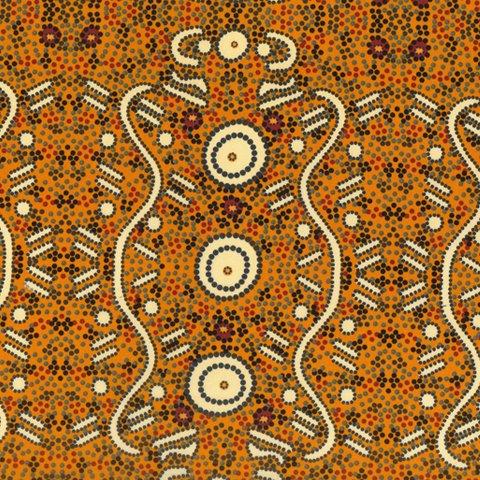 Aboriginal Water Dreaming Yellow