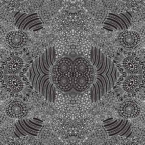 Aboriginal Waterhole Black