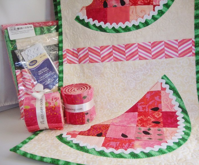 Patchwork Watermelon Roll Table Runner Quilt Kit