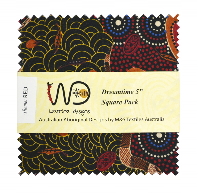 Aboriginal Dreamtime Square Pack - Red 5