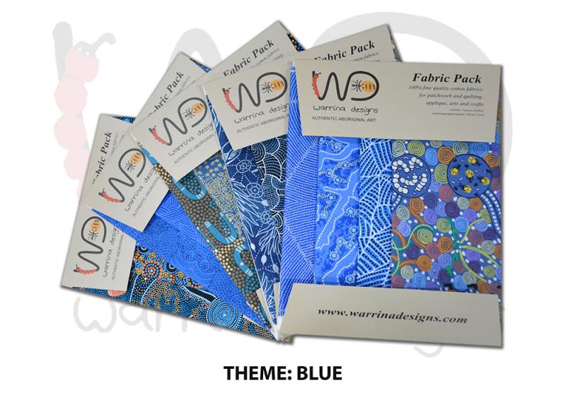 Aboriginal Fat Quarter Fabric Pack - Blue