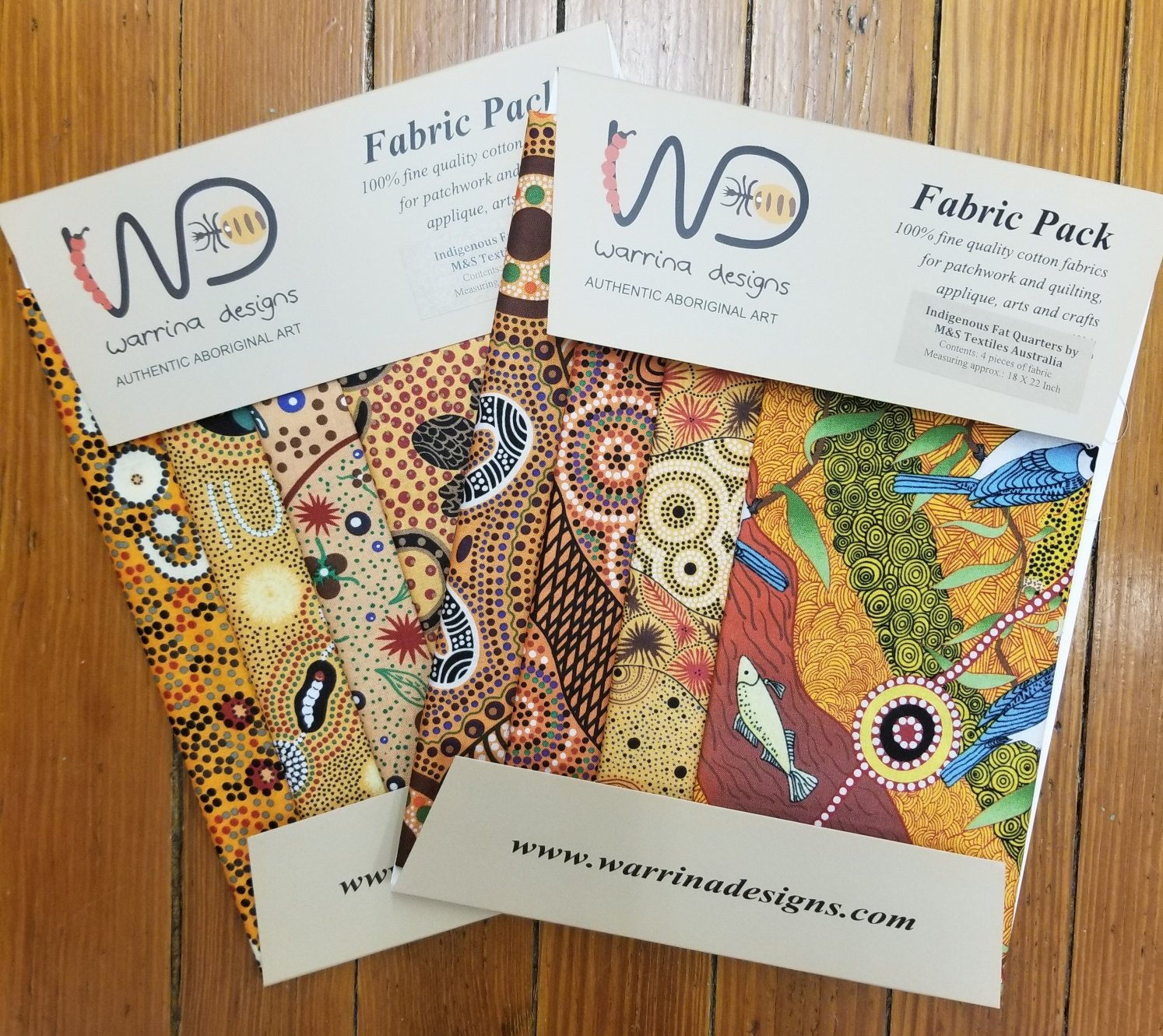 Aboriginal Fat Quarter Fabric Pack - Orange