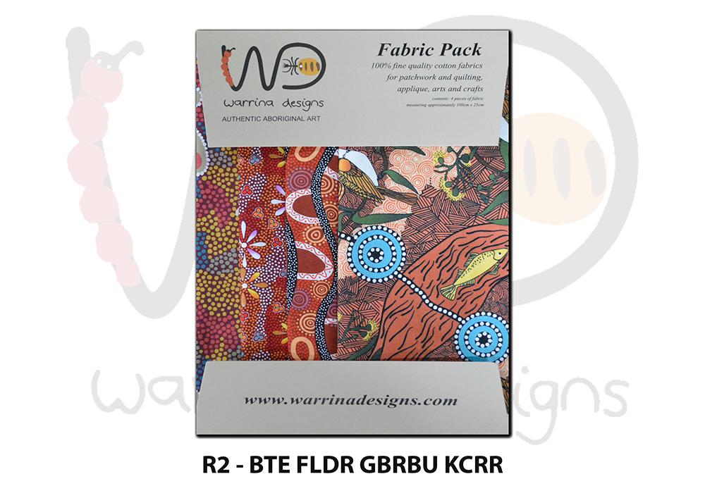 Aboriginal Fat Quarter Fabric Pack -Red