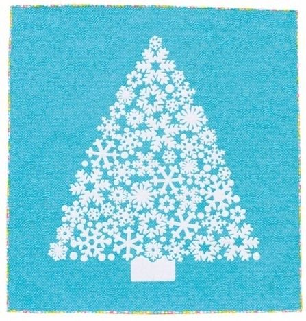 White Christmas Quilt Kit *with Glow in the Dark fabric!*