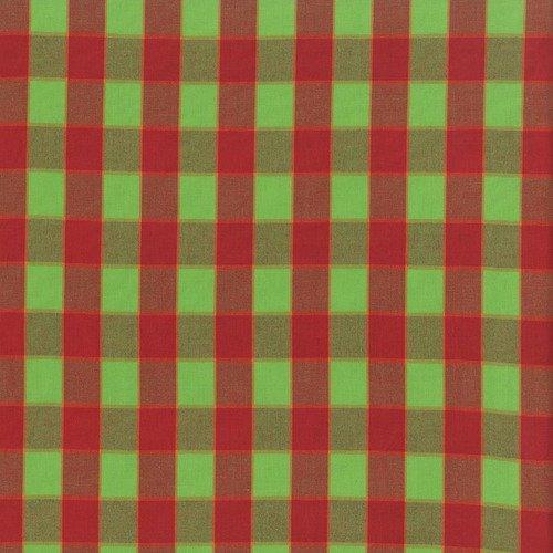 Artisan - Checkerboard Plaid Ikat - Red WOKF003.REDXX
