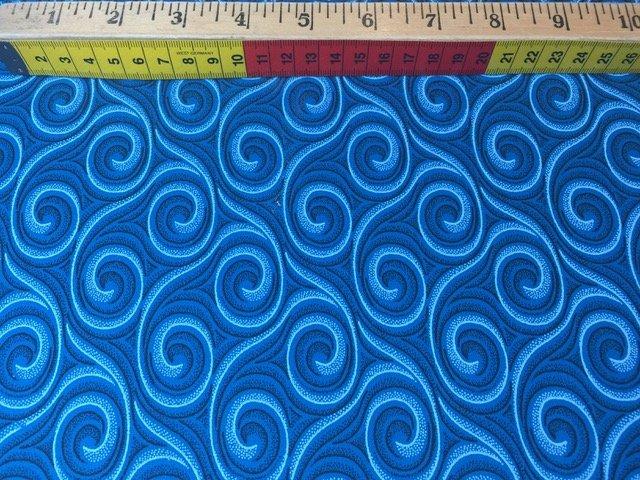 Shweshwe - Turquoise Whirlpools XB8851-CW25
