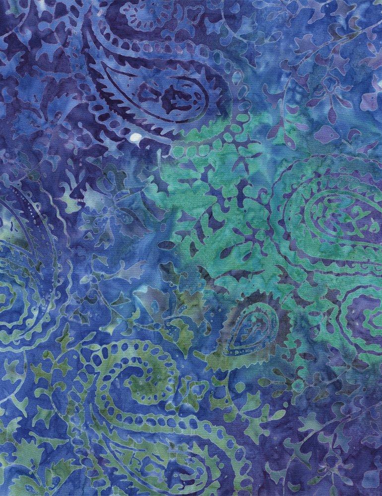 Tonga Batik Ethnic Paisley - 106 Wide B4864-JEWEL