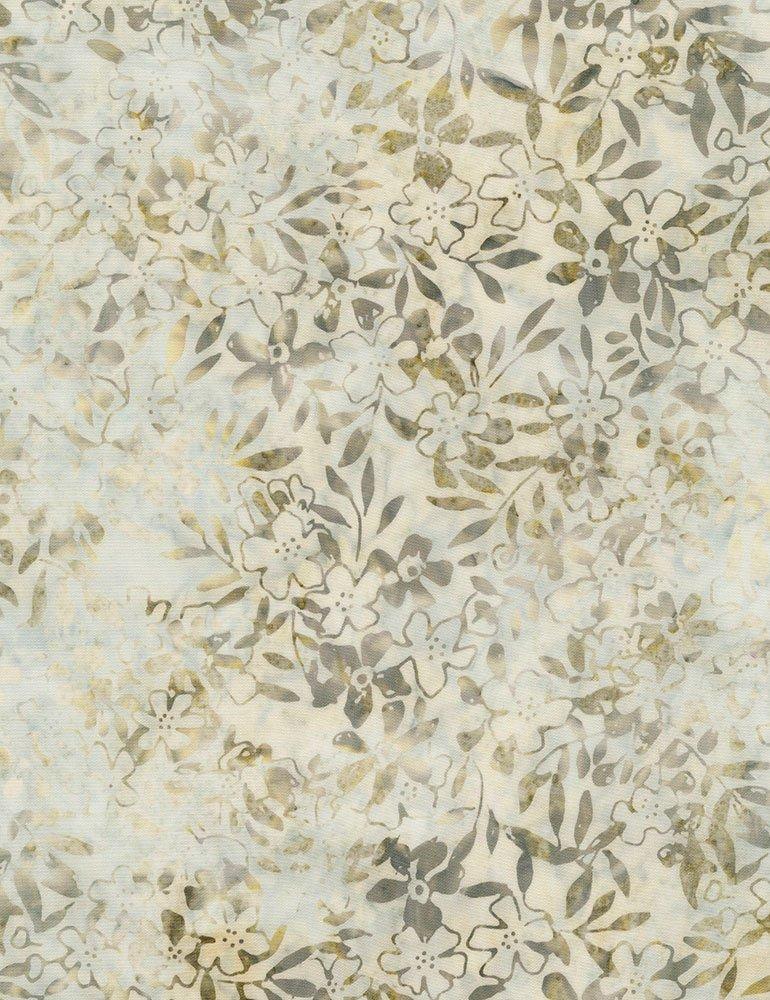 Tonga Batik Spring Blossom - 106 Wide B6778-STONE