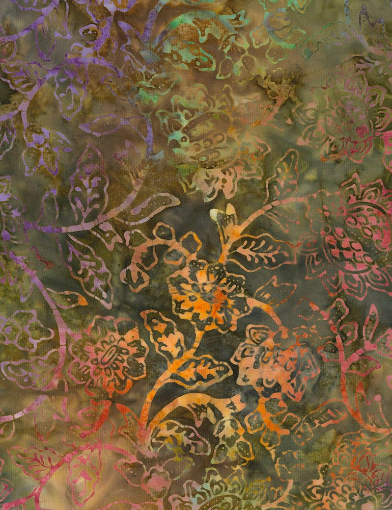 Tonga Batik Spring Blossom - 106 Wide B7139-SAMBA