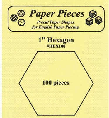1 Hexagon 100 pieces for English Paper Piecing