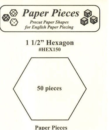 1.5 Hexagon 50 Pieces for English Paper Piecing