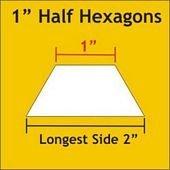 1 Half Hexagon Papers - 75 pieces / pk
