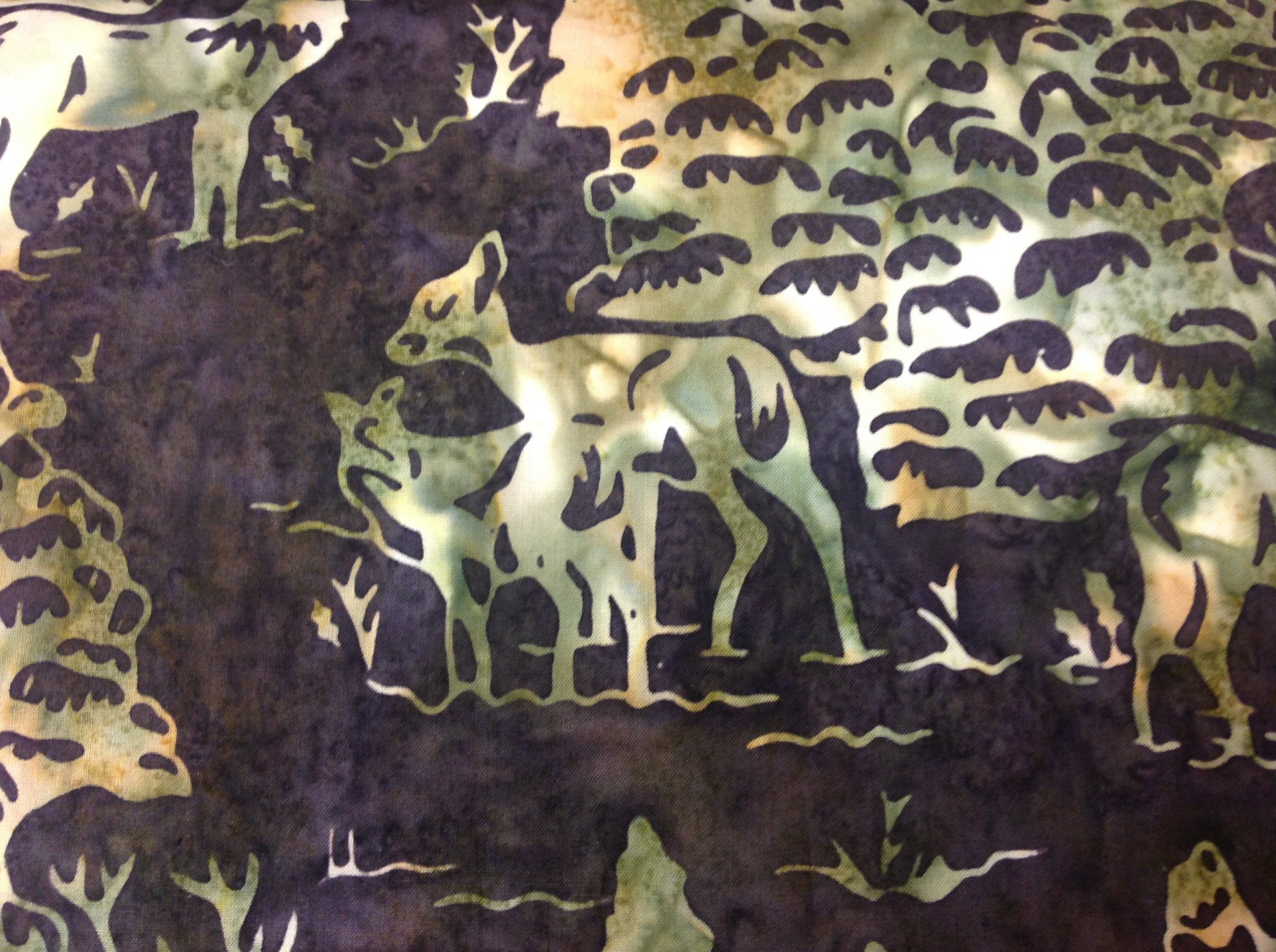 HOFFMAN FABRICS DEER AND TREES FAWN