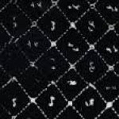 CLOTHWORKS  FRESH BATIK Botanica 2 White on Black