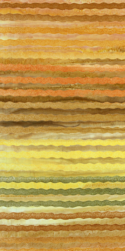 ANTHOLOGY BATIK  Stripe CollectionOrange Green& Yellow