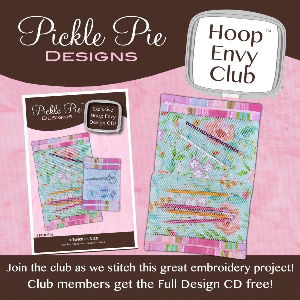 Pickle Pie  Exclusive In the Hoop Envy Designs CD! Twice As Nice