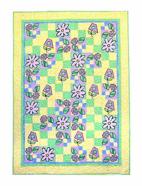 1027 LADYBUGS & FLOWERS