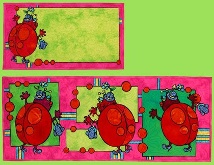 1030 Fashion Ladybugs Table Runner and Placemat Pattern