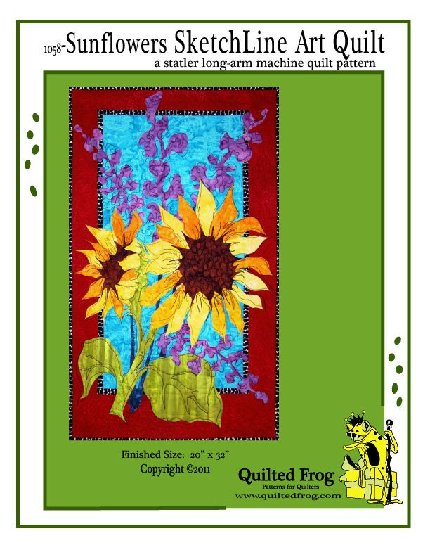 1058-Sunflowers SketchLine Pattern