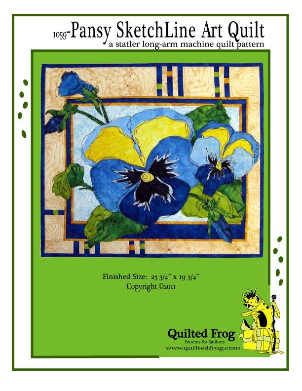 1059-Pansy SketchLine Art Quilt Pattern