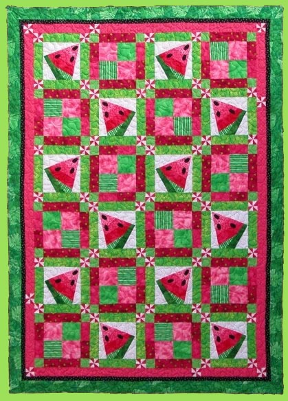 6006 CRAZY WATERMELON Quilt Pattern