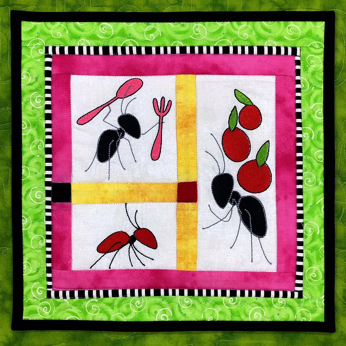 F1007 Picnic Ants Embroidery