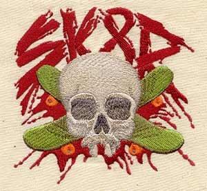 UT1751 SK8R Skull Skater Logo Embroidery Designs