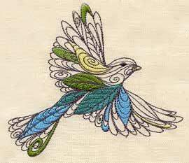 UT1758 Bird  Embroidery Design