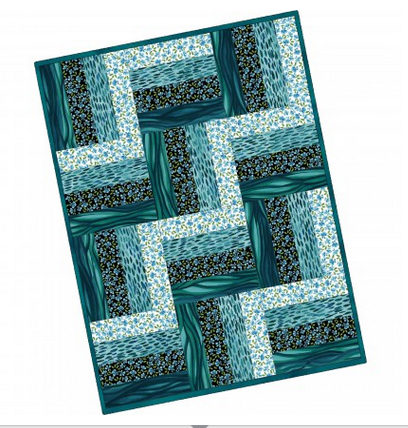 12 Block Rail Fence Quilt Wild by Nature