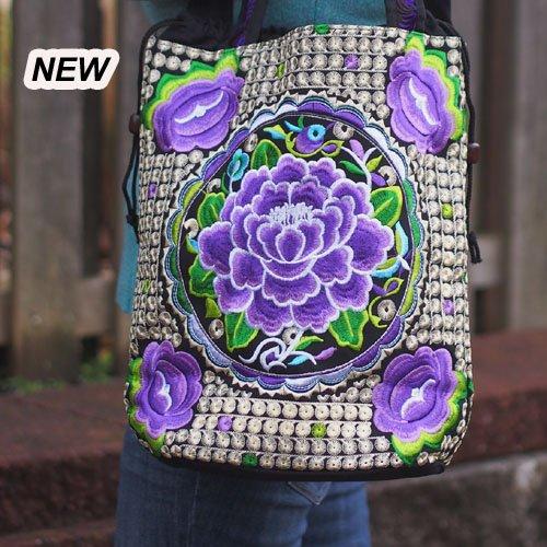 Plymouth Lotus Bucket Bag Purple
