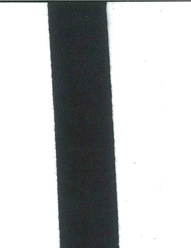 PFA Cotton Twill Tape  Black 3/4