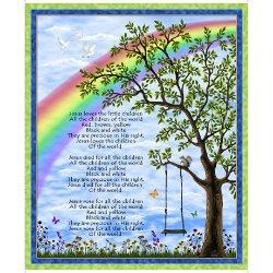 PANEL #809 QT 1649 27069 X Jesus Loves the Little Children
