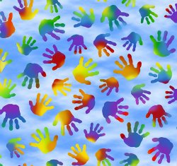 QT Jesus Loves the Little Children 1649 27070 B -Blue