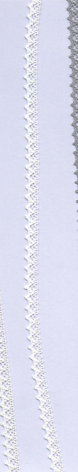 PFA COTTON LACE TRIM 8mm col.001