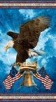 PANEL #195 NC Stonehenge Stars & Stripes Liberty Bell
