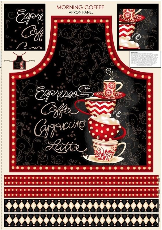 PANEL #690 WIL MORNING COFFEE 56052-193 APRON