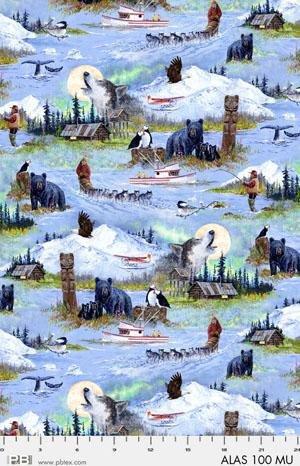 PB JON VAN ZYLE MAP ALASKAN SCENIC