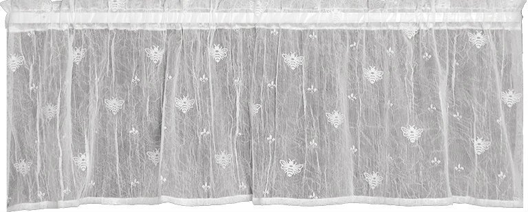 HERITAGE LACE BEE VALANCE WHITE