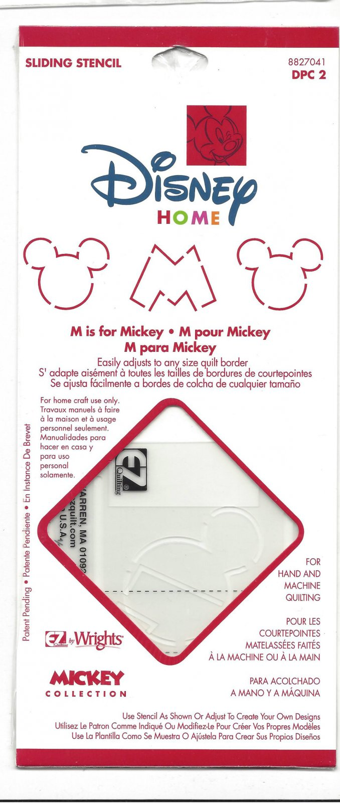 WRIGHTS DISNEY M IS FOR MICKEY