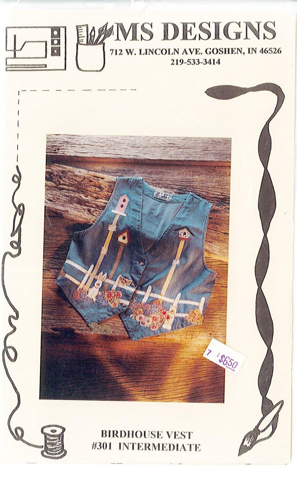 MS DESIGNS - Birdhouse Vest