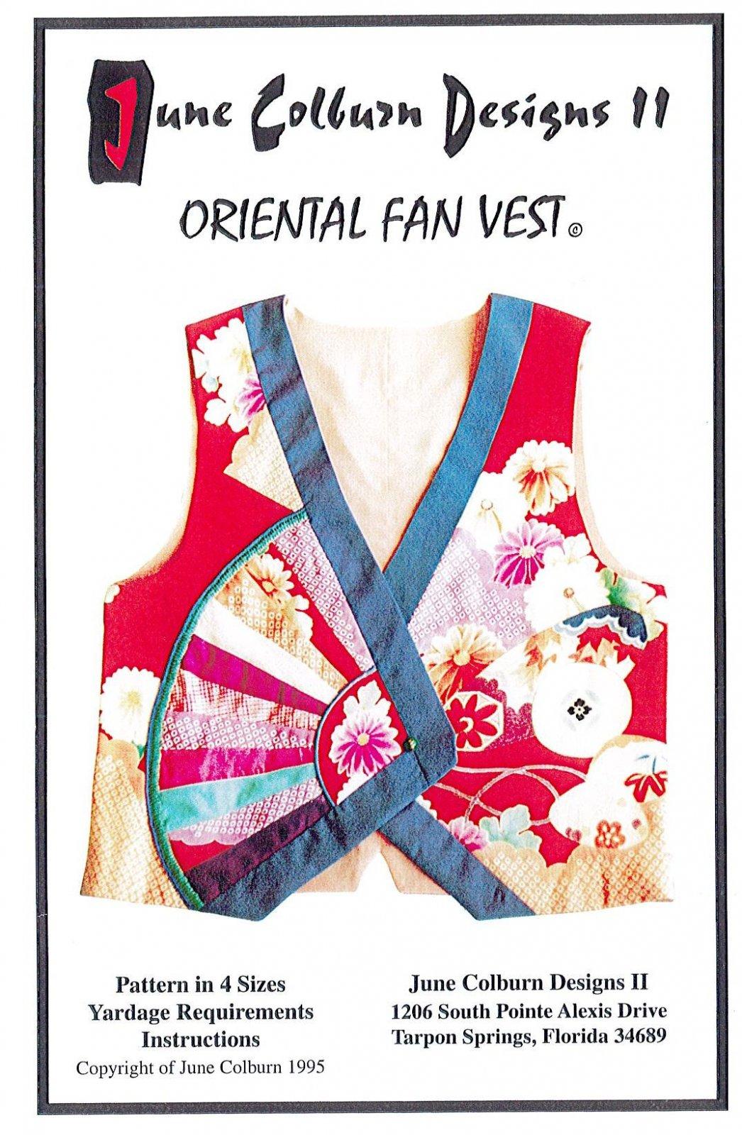 JUNE COLBURN DESIGNS - Oriental Fan Vest