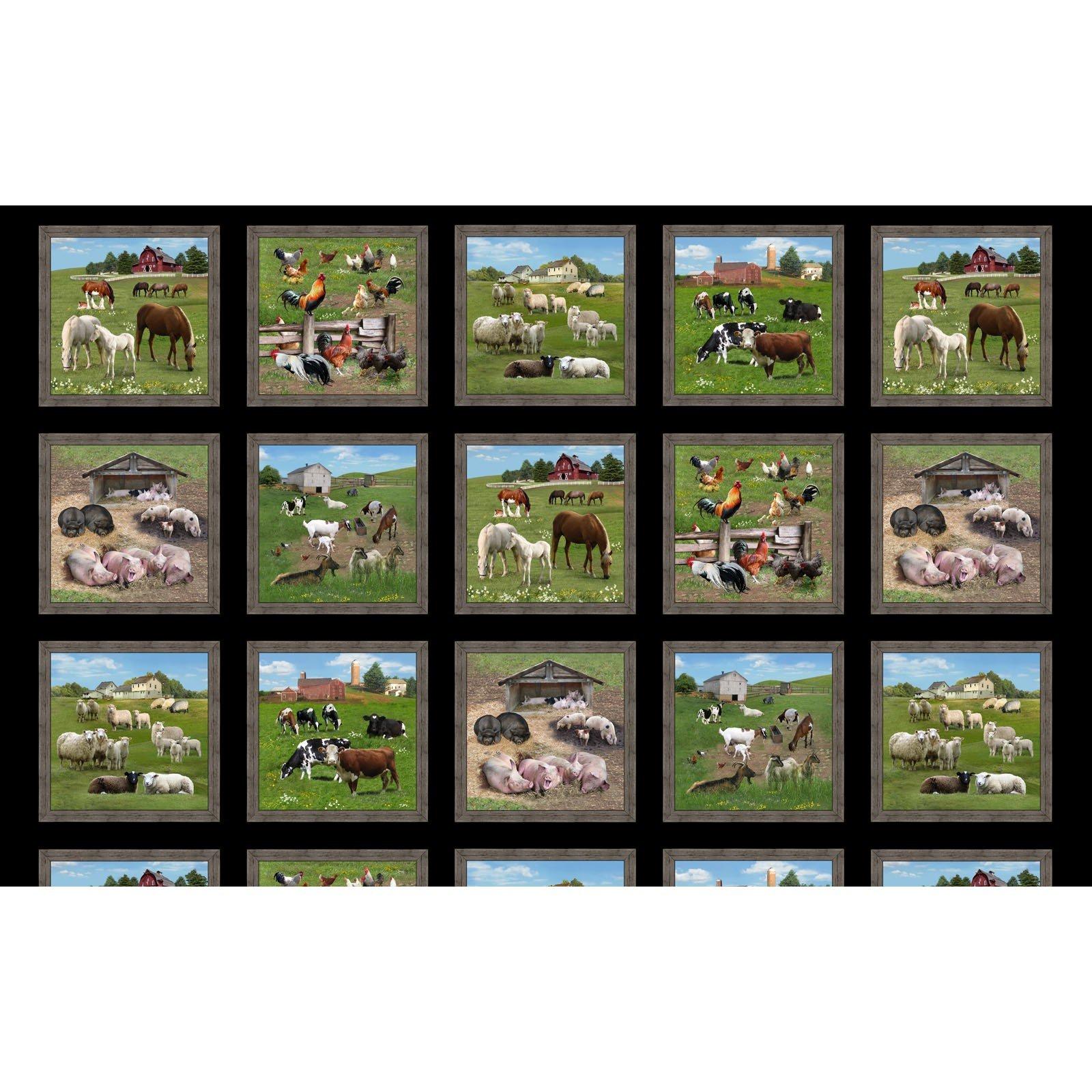 ELS557-BLA FARM ANIMALS PER STRIP