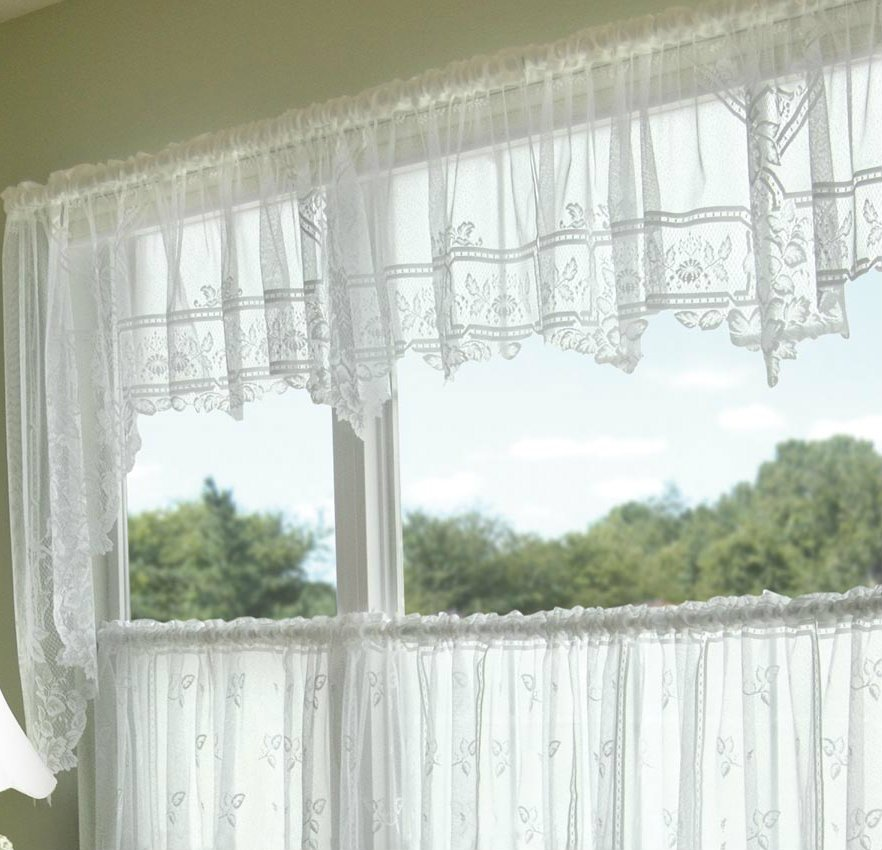 HERITAGE LACE HEIRLOOM VALANCE WHITE