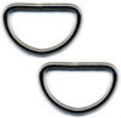 D Rings-Nickel 3/4-inch LIGHT WEIGHT
