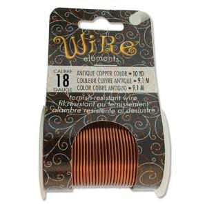 BeadSmith Wire Elements Ant Copper 18 ga